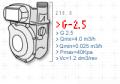 Medidor de Gas Metrex G2,5