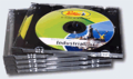Caja Plana Bandeja Negra - Para Mini CD