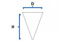 Vasos cónicos de papel parafinado  6 Oz (cod. vc60)