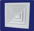 Difusor de techo con elemento central removible sin dámper  L-AV