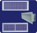 Rejillas de suministro doble aleta con dámper aletas opuestas  L-VH-OB / L-HV-OB