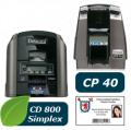 Impresión a una cara Impresoras de tarjetas plásticas