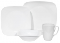 Corelle Square Pure White Dinnerware Set