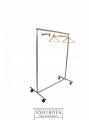 Racks muebles metálicos sencillos con ruedas desarmables para colgar ropa