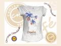 Camiseta Orquídeas Moradas