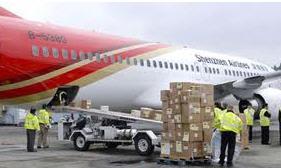 Pedido Transporte aereo de mercancias