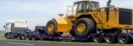 Pedido Transporte de cargas especiales