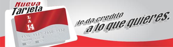Pedido Tarjeta de Crédito LA 14