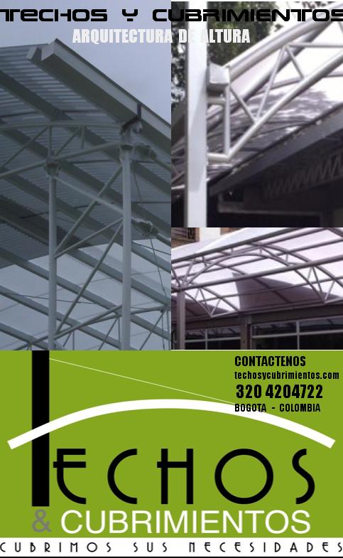 Fabricación y construcción de techos y cubiertas con estructura portante Bogotá