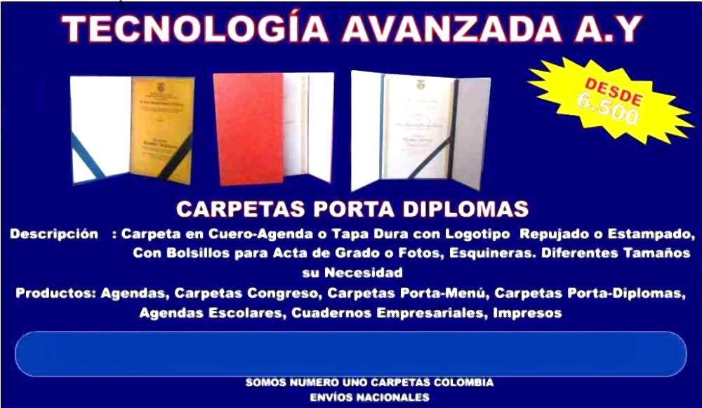 Pedido Carpetas Porta Diplomas, Carpetas Porta Documentos, Carpetas Porta-Menú, Carpetas Porta-Diplomas