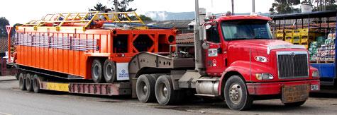 Pedido Servicio de transporte de maquinaria, carga extradimensionada de difícil manejo a nivel nacional e internacional