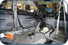 Pintura de cojineria al interior del vehiculo