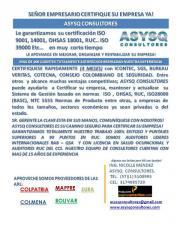 CONSULTORES ASESORES INTEGRADOS INTEGRALES DE GESTION HSEQ COLOMBIA - BOGOTA