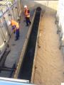 Recarga arena sílice acueductos